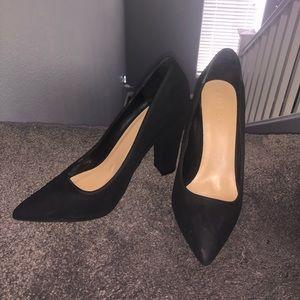 Jet Black Bamboo Heels